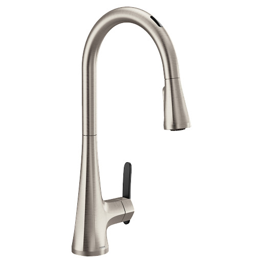 The Granite Group S7235evsrs Moen U By Moen In Sinema 1 50 Gpm One Hole Deck Mount Four Function Pull Down Smart Kitchen Faucet With Single Lever Handle And Compatible With Amazon Alexa And Google